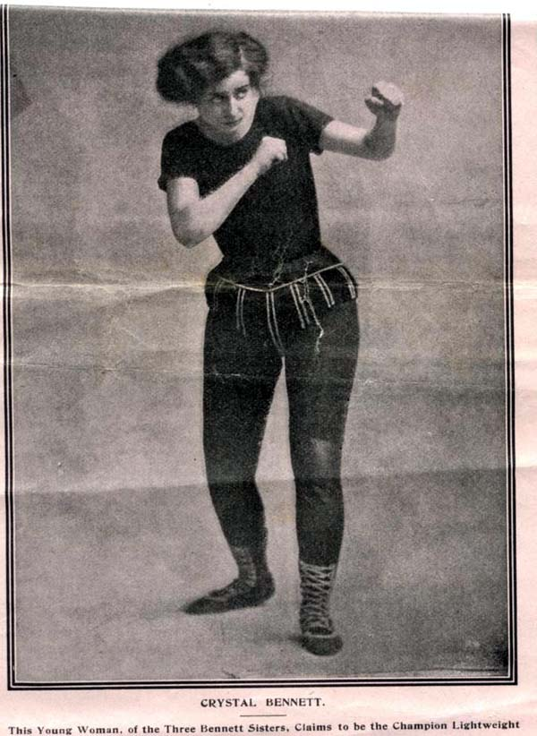 Crystal Bennett Claims To Be Lightweight Champion 1910