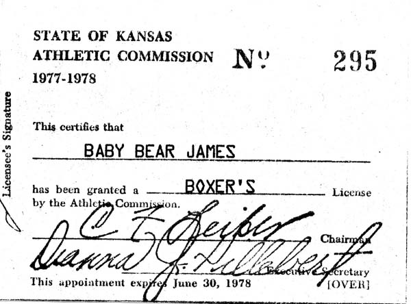 past boxing licenses